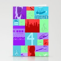 divergent Stationery Cards featuring Divergent Collage by Anthony M. Sennett