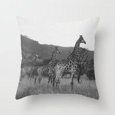 Kaleidoscope of Giraffes Throw Pillow