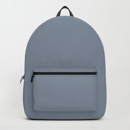 Dark Pastel Blue Solid Color Inspired by Benjamin Moore Oxford Blue Gray 2128-40 Backpack
