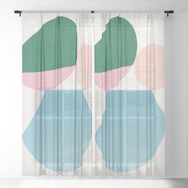 Abstraction_Balances_002 Sheer Curtain