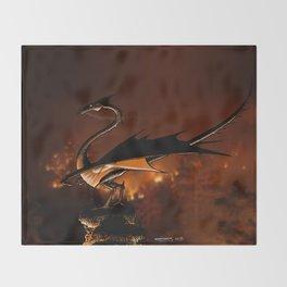 Fire Dragon Throw Blanket