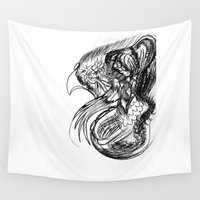 phoenix Wall Tapestries featuring Phoenix. by sonigque