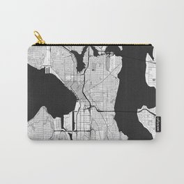 Seattle Map Gray Carry-All Pouch