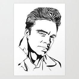 Portrait of Sebastian Stan Art Print