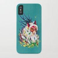 princess mononoke iPhone & iPod Cases featuring Princess Mononoke by Stephanie Kao