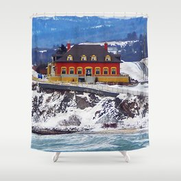 Le Chateau and the Sea Shower Curtain