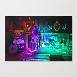 Setting Up The Stage Canvas Print