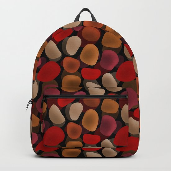 Abstract pattern . Sea stones .2 . Backpack