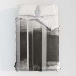 Black and White Retro Style Geometric Abstract - Codex Comforters