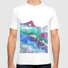Luminescence White MEDIUM Mens Fitted Tee