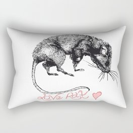 love rat Rectangular Pillow