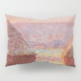 White Frost, Sunrise by Claude Monet Pillow Sham