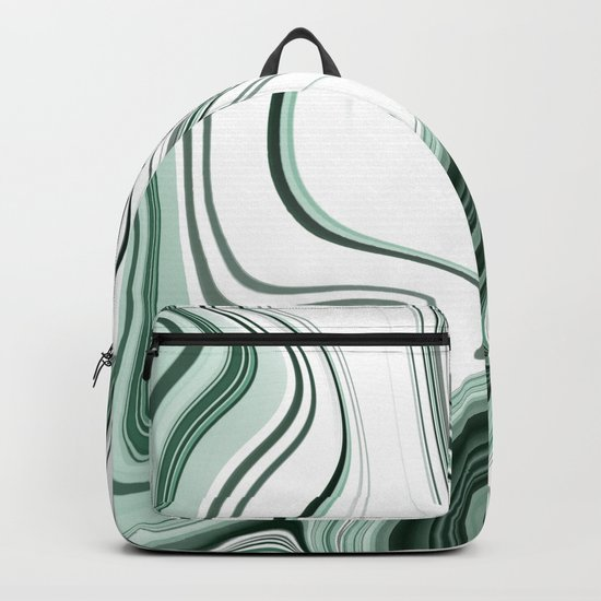 Bold Green Agate Stone Effect Design Backpack