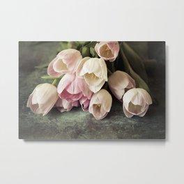Vintage Tulips Metal Print