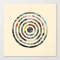 circles Canvas Prints featuring Circles. by Kieran Sperring
