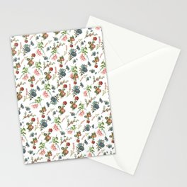 Antique Floral Pattern Stationery Cards