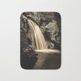 Sepia Waterfall, Stowe Vermont Bath Mat