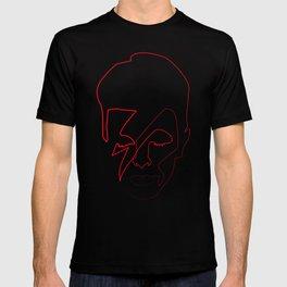 One line Aladdin Sane T-shirt