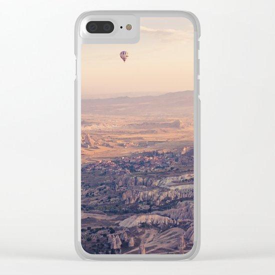 Sunrise Hot Air Balloon Flight Clear iPhone Case