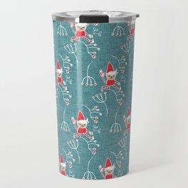 Santa Little Helper Blue #Holiday #Christmas Travel Mug
