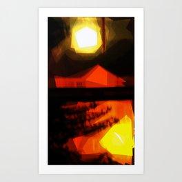 Burnin' down the house Art Print
