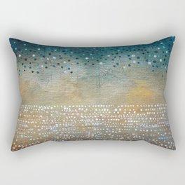 Landscape Dots - Turquoise Rectangular Pillow