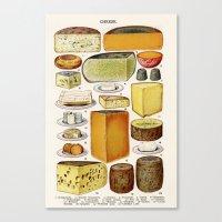 cheese Canvas Prints featuring CHEESE by Kathead Tarot/David Rivera