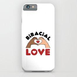Biracial Love Interracial Relationship Marriage iPhone Case