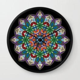 Mandala colorida Wall Clock