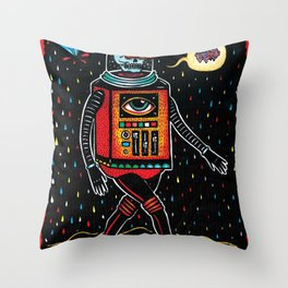 strange tales of cucacolor Throw Pillow