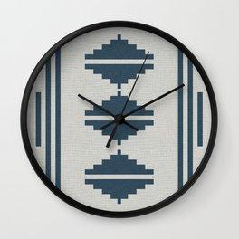 ATIZ PEACOCK LINEN Wall Clock