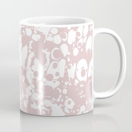 Blush Pink White Spilled Paint Mess Coffee Mug