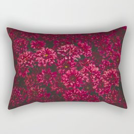 Painting The Flowers Red Rectangular Pillow