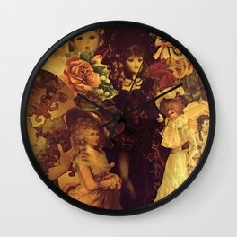 Decoupage Ladies Wall Clock