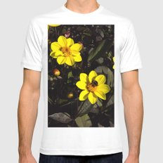 Bee in a Flower Mens Fitted Tee MEDIUM White