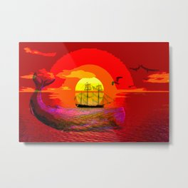 sunset moby Metal Print