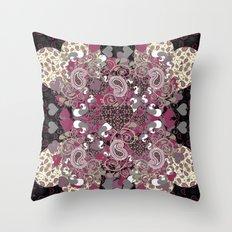 Mature Bush of Pink Love Throw Pillow