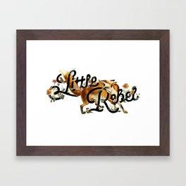 Little Rebel Framed Art Print