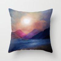 calm Throw Pillows featuring Calm by Viviana Gonzalez