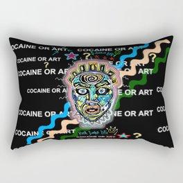 Drugs or Art Rectangular Pillow