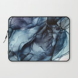 Blush and Darkness Abstract Paintings Laptop Sleeve