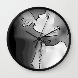 Smookin' - Erotic slave girl, BDSM artwork, bondage fantasies, sexy submissive girl and Master Wall Clock