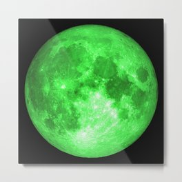 Green full moon Metal Print
