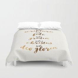 The Five Solas of the Reformation Duvet Cover