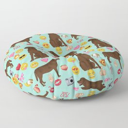 Chocolate lab emoji labrador retrievers dog breed Floor Pillow