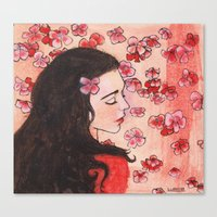 snow white Canvas Prints featuring Snow White by Sarah Larguier