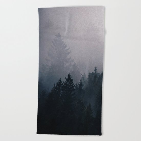 Lost in the Fog Beach Towel