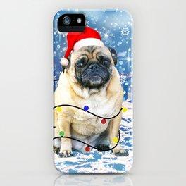 Pug Holidays Christmas Snow iPhone Case