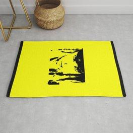 Abstract Yellow and Black Dani Rug