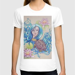 Blue Nova, Turtle Colored Pencil Drawing T-shirt